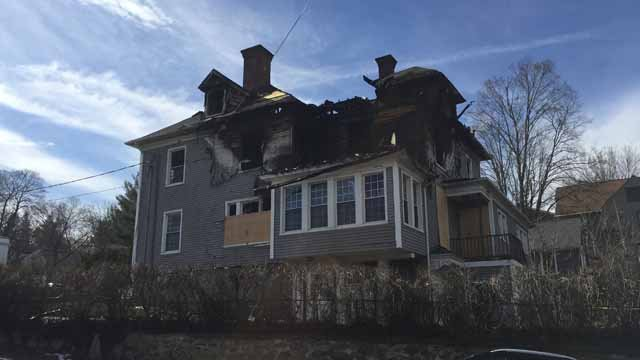 A fire ripped through this Watertown home (WFSB)