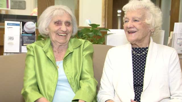 At 99 years old, they've both been sharing their joy of life and their desire to be of service, as volunteers. (WFSB)