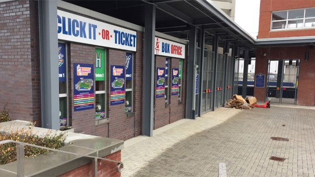 Standing room only tickets being were offered for Yard Goats home opener on Thursday. (WFSB)