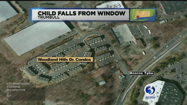 Police said a two-year-old boy fell out of a window at a home in Trumbull on Wednesday evening. (WFSB)