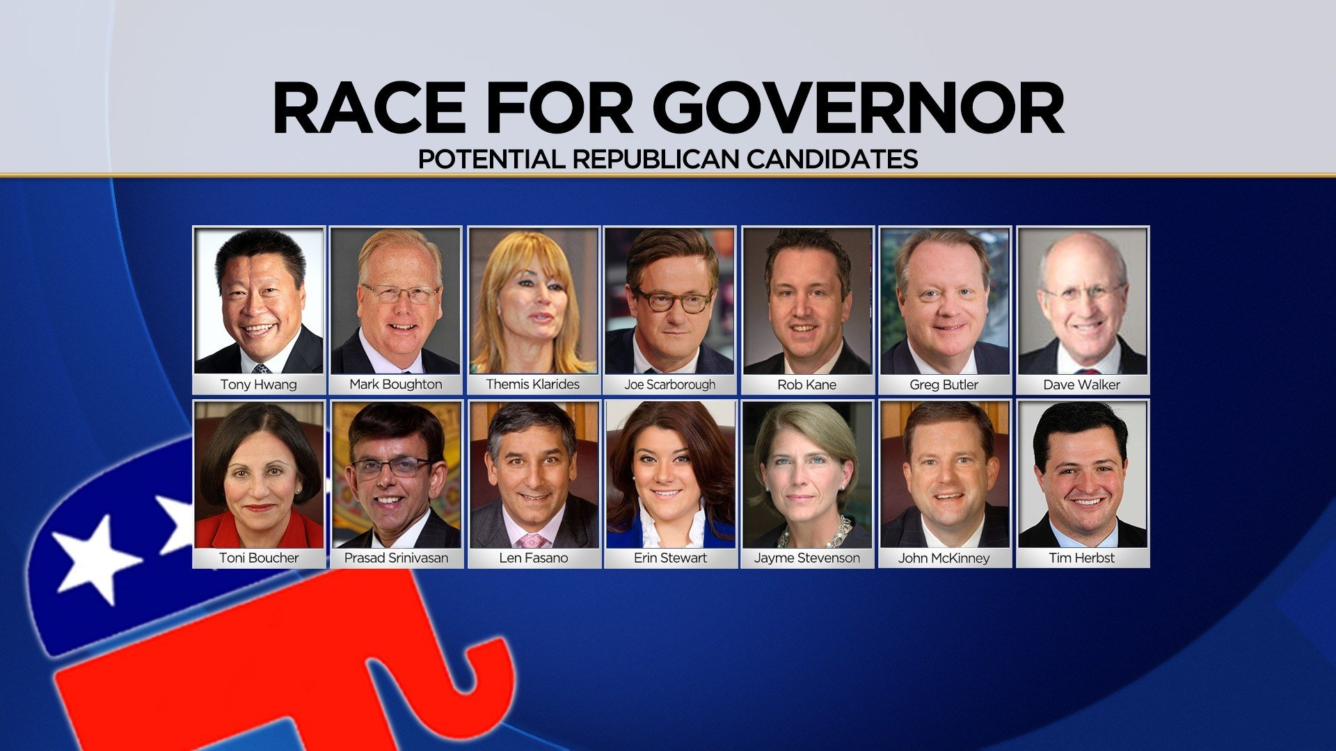 Potential republican candidates for governor (WFSB)