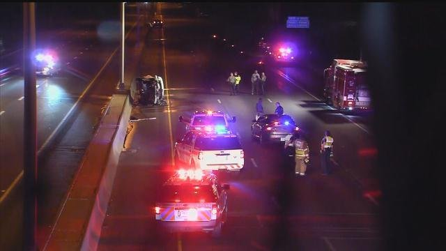 Police have shut down both sides of I-91 in East Windsor after a person was hit by a car (WFSB)