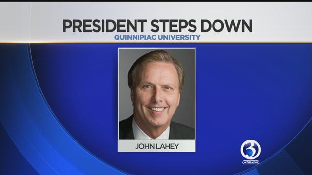 John Lahey has stepped down as the president of Quinnipiac University. (Quinnipiac University)
