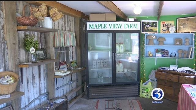 A cash box was stolen from the Maple View Farm in Granby (WFSB)