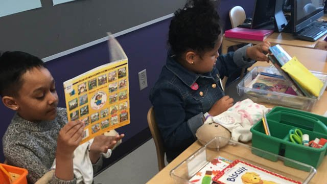 Teachers are using baby dolls to teach first graders in Connecticut. (WFSB)