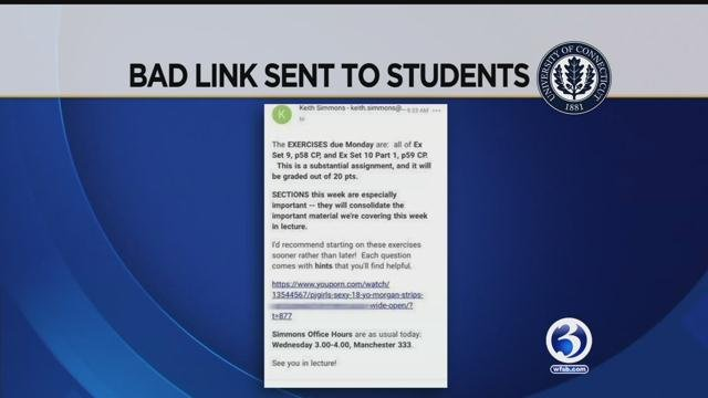 A screenshot of the message sent to students