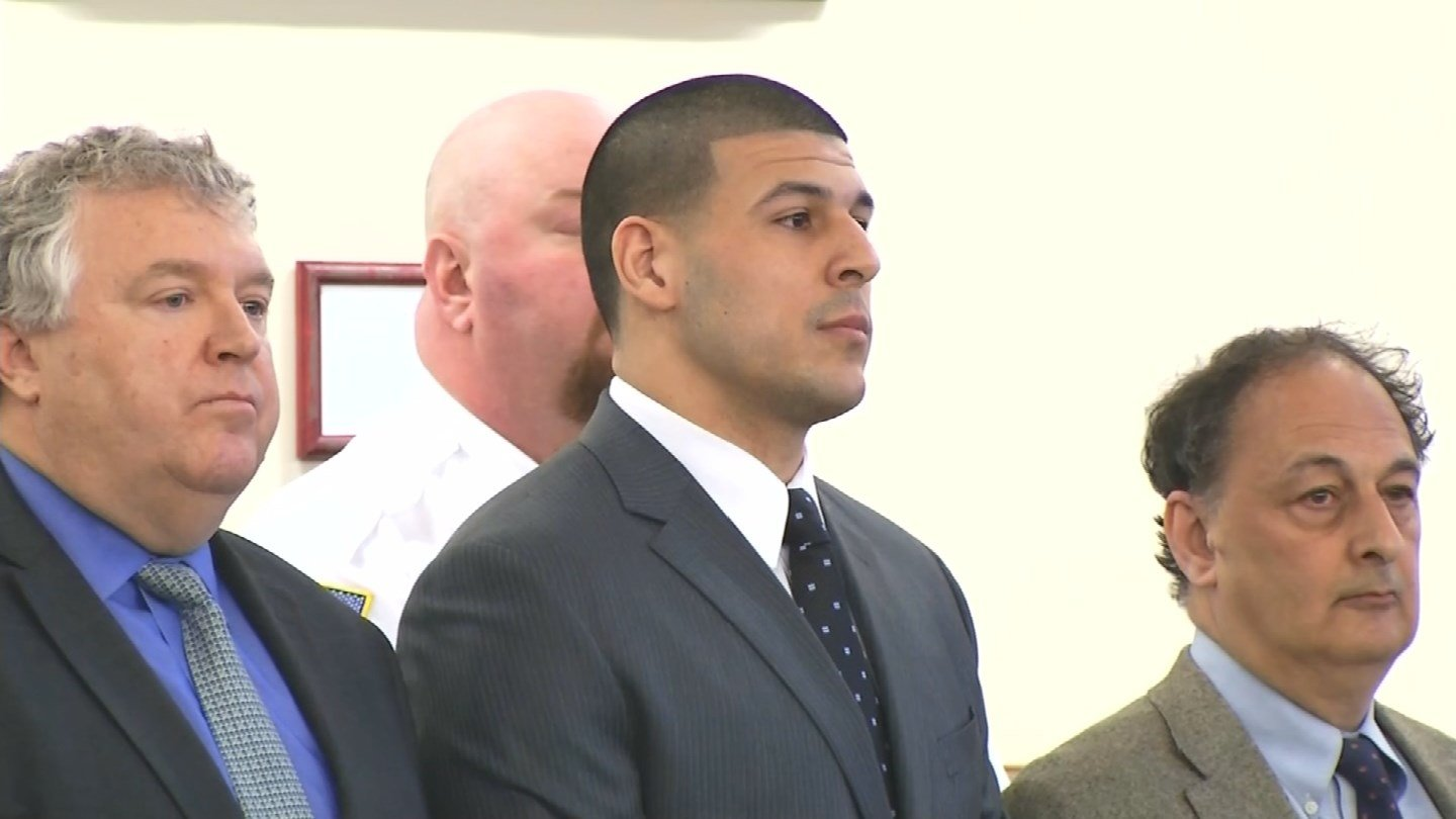 Aaron Hernandez during a court appearance. (CNN)