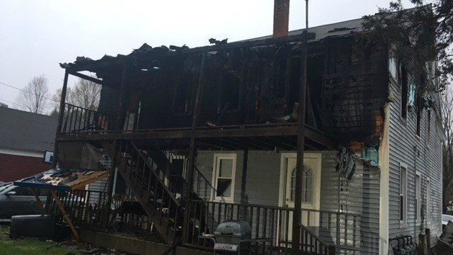 One woman was burned in a kitchen fire in Seymour Thursday morning (WFSB)