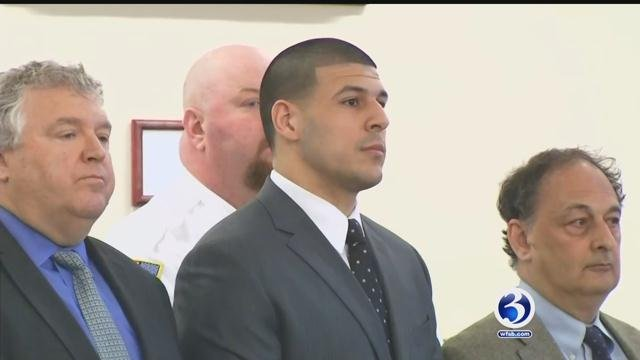 Aaron Hernandez will be the subject of an upcoming true crime book by best-selling author James Patterson. (File photo)