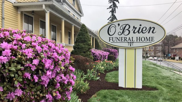 Aaron Hernandez's body will be moved here to O'Brien Funeral home in Bristol  this weekend. (WFSB)