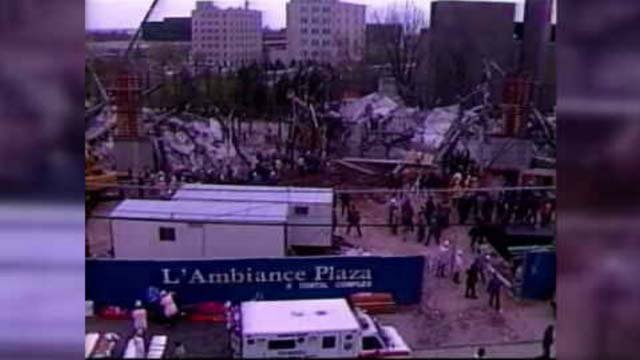 Thirty years ago, 28 construction workers were killed at L'Ambiance Plaza in Bridgeport.  (WFSB)