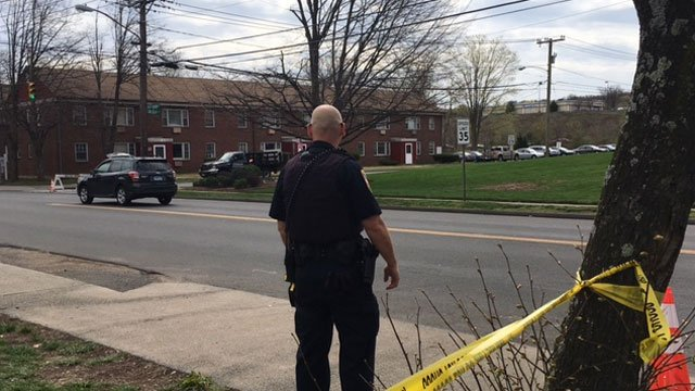 Police are on the scene of funeral services. (WFSB)