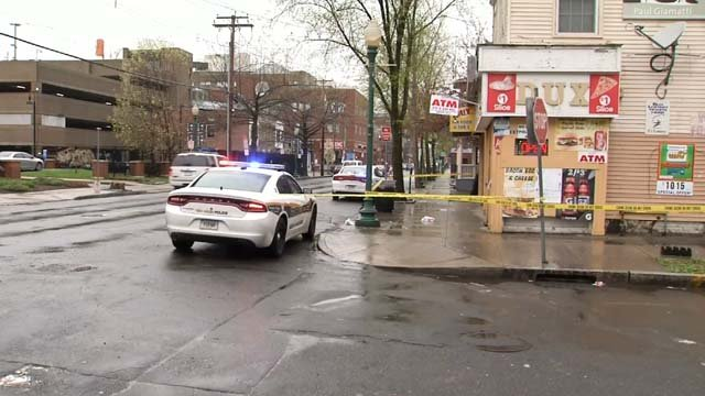 Two people were hit by a car in New Haven on Tuesday (WFSB)