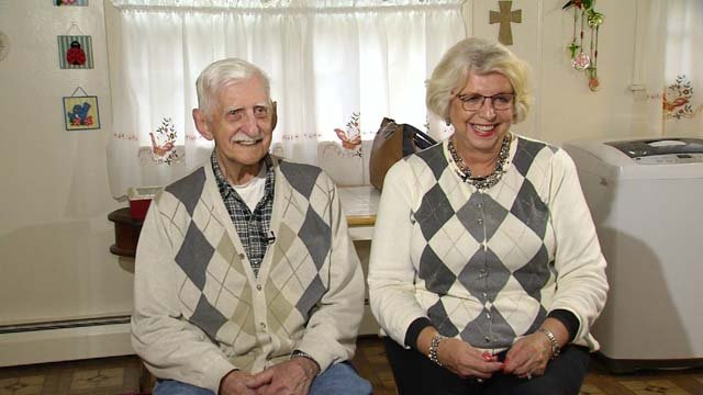 Bob Chikoski and Geri Bentley are brother and sister, and met for the first time on Tuesday (WFSB)