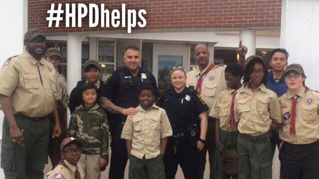 Hartford officers donated money to help a boy buy a scout uniform, according to Deputy Chief Brian Foley. (Hartford police photo)