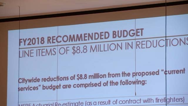 Hartford leaders addressed this year's proposed budget on Wednesday night (WFSB)