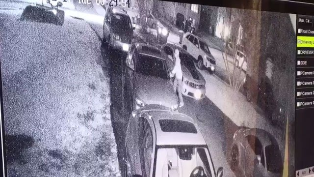 Thieves are caught on camera stealing from unlocked cars in Bristol. (WFSB)