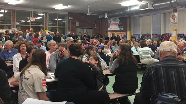 Residents packed a meeting in East Windsor on Thursday night. (WFSB)