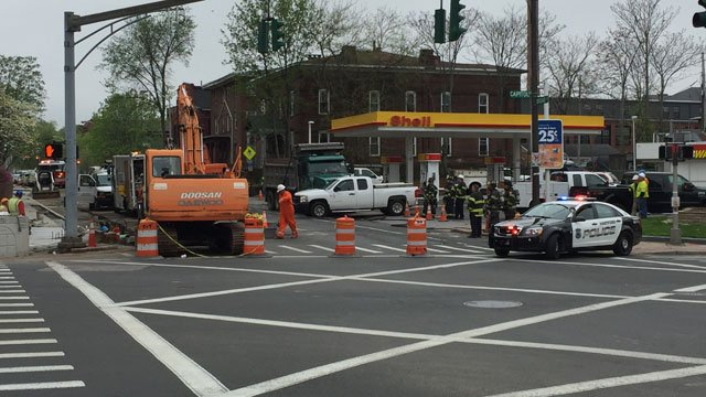 A gas leak caused preschool students to be evacuated on Monday morning. (WFSB)