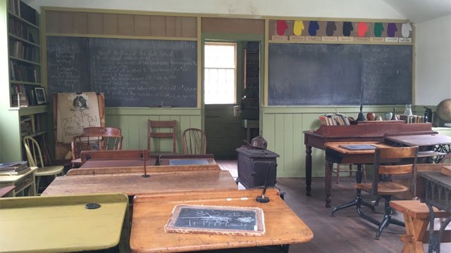 This one room schoolhouse is a prototype for The School for Colored Children going up in Colchester. (WFSB)