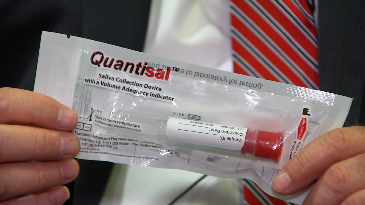 Alere Toxicology said it has developed a saliva test that can show drugged driving. (WFSB photo)