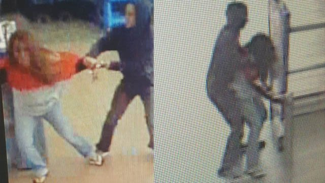 Police want to check on the welfare of the woman in these surveillance photos after a fight at an East Windsor Walmart. (East Windsor police)