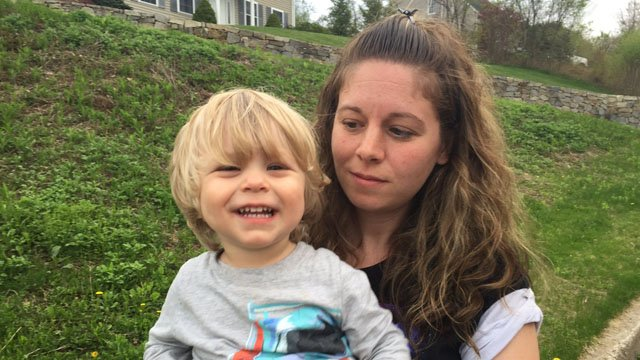 Tracy Graziano and her young son were approached by a couple on Sunday, she said. (WFSB photo)