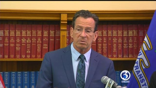 Gov. Dannel P. Malloy signed a tentative contract with state employees unions. (WFSB FILE PHOTO)