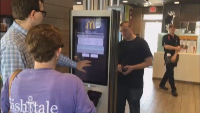 A McDonald's in Norwich launched its self-order kiosk on Tuesday. (WFSB)