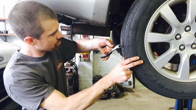 Nails and screws being found along Route 154 are causing flat tires. (WFSB)