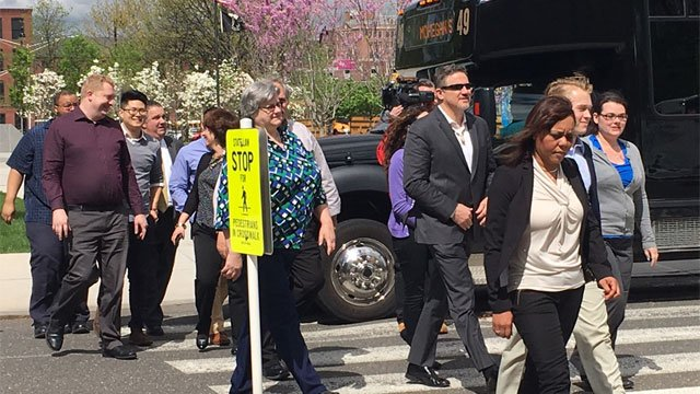 Employees of Connecticut's two casino-owning tribes arrived at the State Capitol to testify on Wednesday. (WFSB)