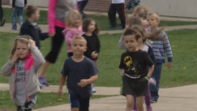 Walk at Colchester Elementary School was part of Project ACES. (WFSB)