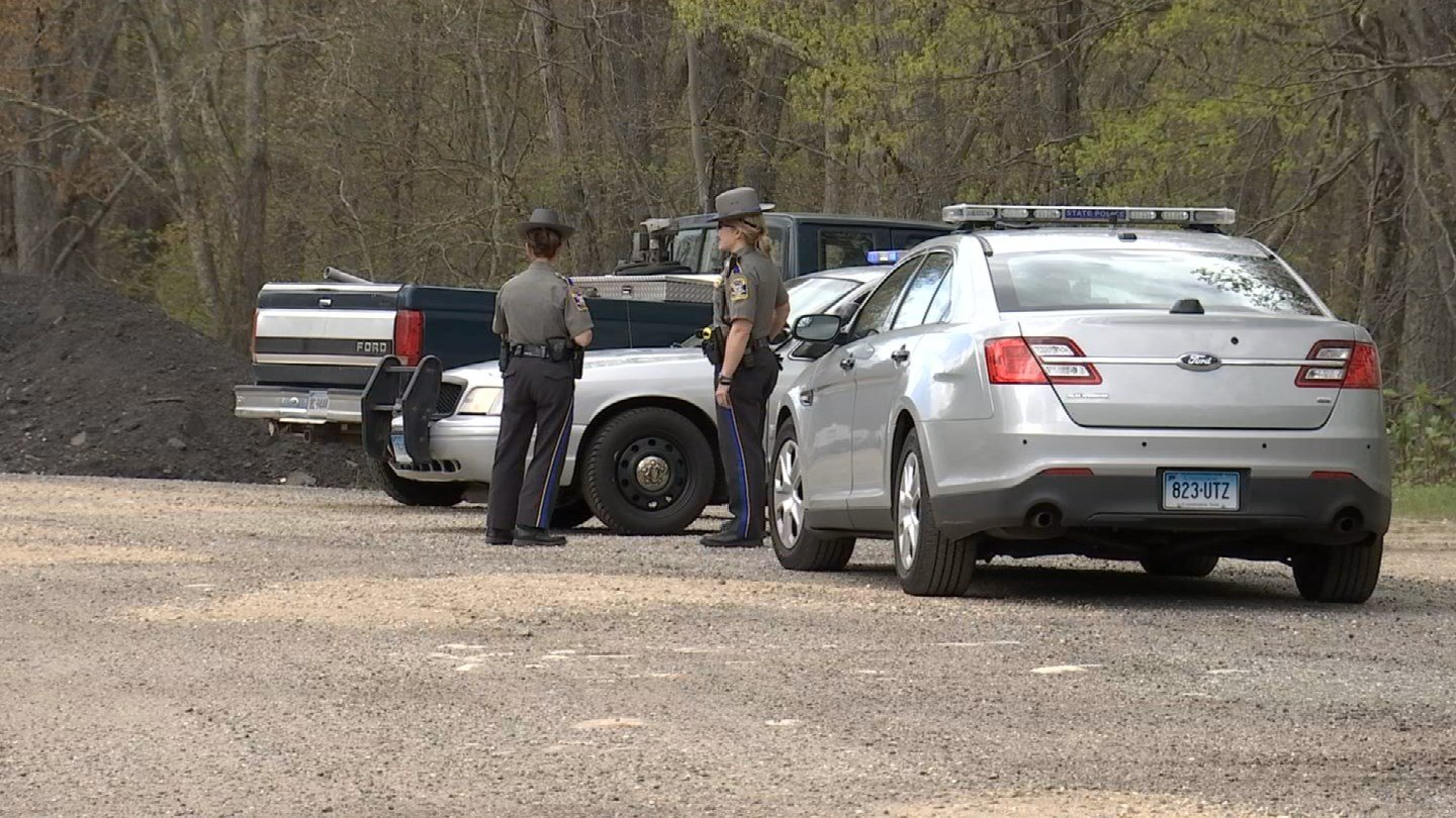 State police are searching for a shooter following a fight on the Boston Post Road in North Windham. (WFSB photo)