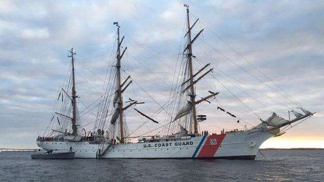 The USCG Barque Eagle. (Facebook photo)