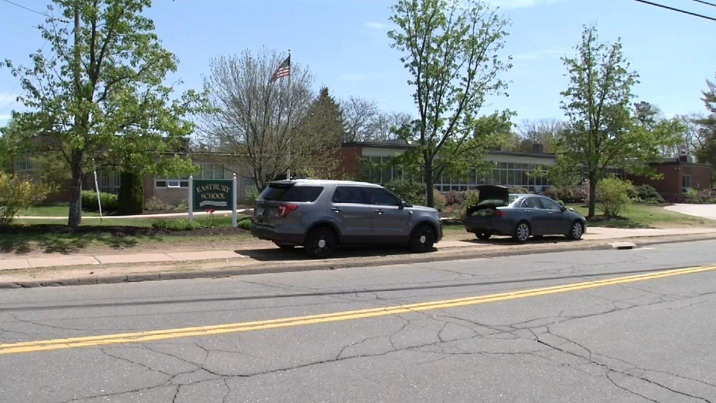 Neipsic Road in Glastonbury was closed after students fell ill at a school on Thursday. (WFSB)