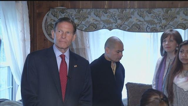Sen. Richard Blumenthal is working to prevent the deportation of Luis Barrios. (WFSB photo)