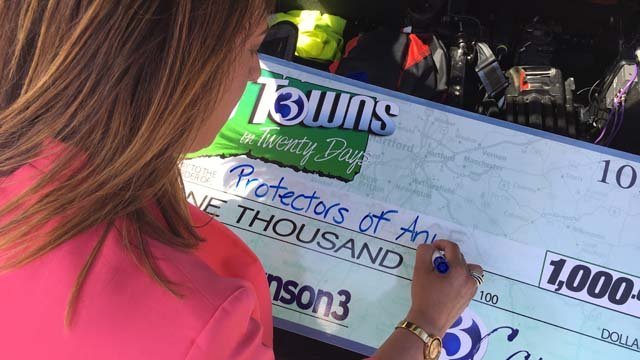 Protectors of Animals was the recipient of our $1,000 check. (WFSB)
