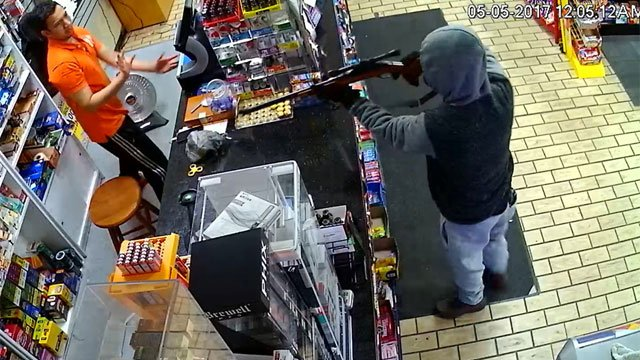 Police are searching for the man who robbed a convenience store early Friday morning. (Stratford Police Department)