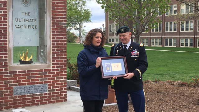 University of Connecticut was awarded posthumously to 1st Lt. Alonzo Marcil of Baltic. (WFSB file photo)
