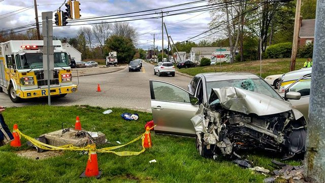 Two people were rushed to hospital after crash in Colchester on Friday. (Colchester Hayward Volunteer Fire Company)