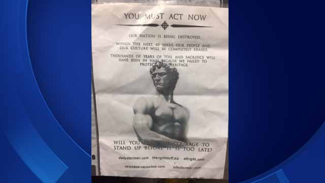 These flyers have been found in Westport driveways (Westport police)