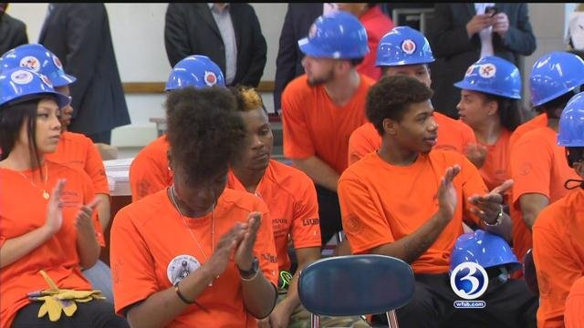 Students at Hillhouse High recognized for their accomplishments. (WFSB)