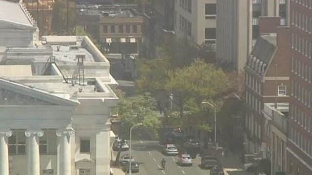 A bomb threat was reported at a courthouse in New Haven on Tuesday morning. (WFSB)