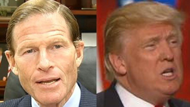 Sen. Richard Blumenthal and President Donald Trump. (File photos)
