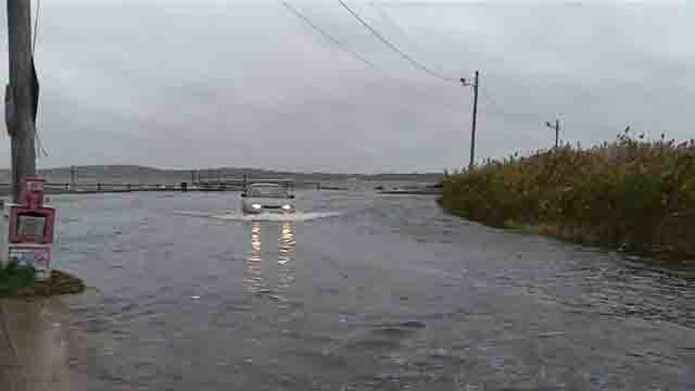 City officials are looking to redesign low-lying roads to prevent flooding (WFSB)