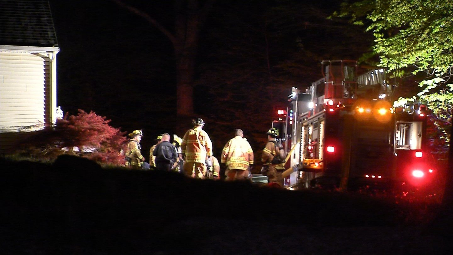 Two people suffered smoke inhalation during a garage fire on Penfield Hill Road in Portland. (WFSB)