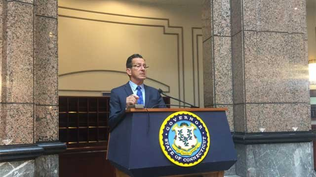Gov. Dannel  Malloy says layoff notices have gone out. (WFSB photo)