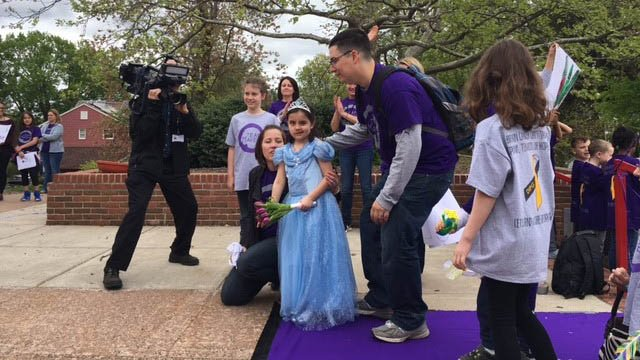 Maven Borgen was treated like a princess on her last day of radiation treatment. (WFSB)