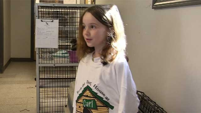 Eloise Mackell  is helping the Milford Animal Control by selling her artwork. (WFSB)