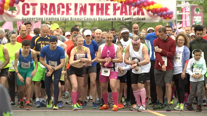 Thousands of runner get ready to run in the 24th annual Race in the Park in New Britain on Saturday morning. (WFSB)